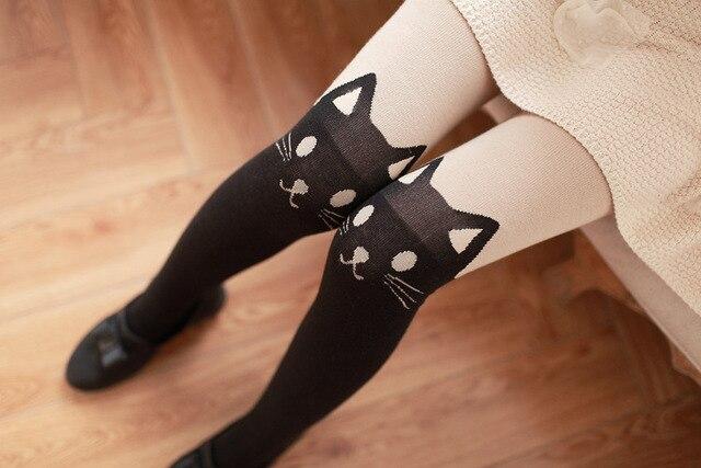 Princess sweet lolita pantyhose W159 cat false high even pants cotton pantyhose