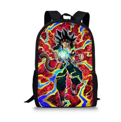 Аниме Dragon Ball Школьный для подростков обувь мальчиков Прохладный Saiyan Защита от солнца Гоку Вегета печати дети школьные ранцы книга рюкзак