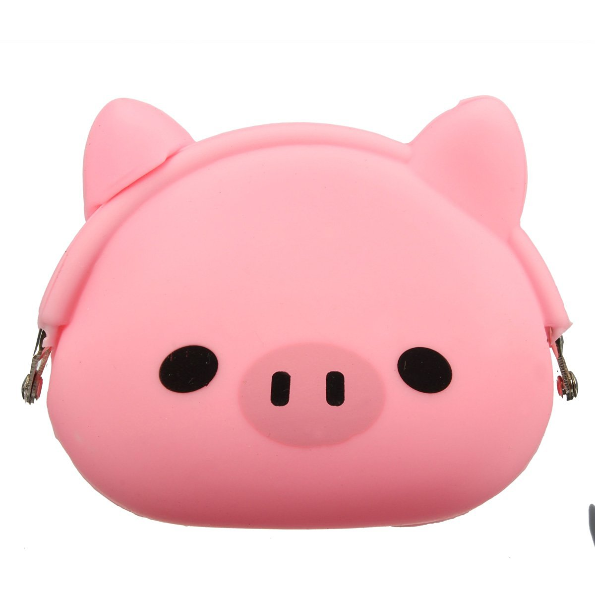 Women Girls Wallet Kawaii Cute Cartoon Animal Silicone Jelly coin purse Purse Kids Gift Pink Pig