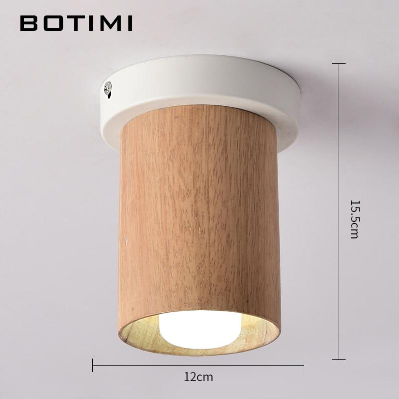 Us 480 60 Offbotimi Nowoczesne Drewniane Lampy Sufitowe Led Biały Metal światła Korytarz Kuchnia Drewna Małe Montowane Powierzchniowo Opraw