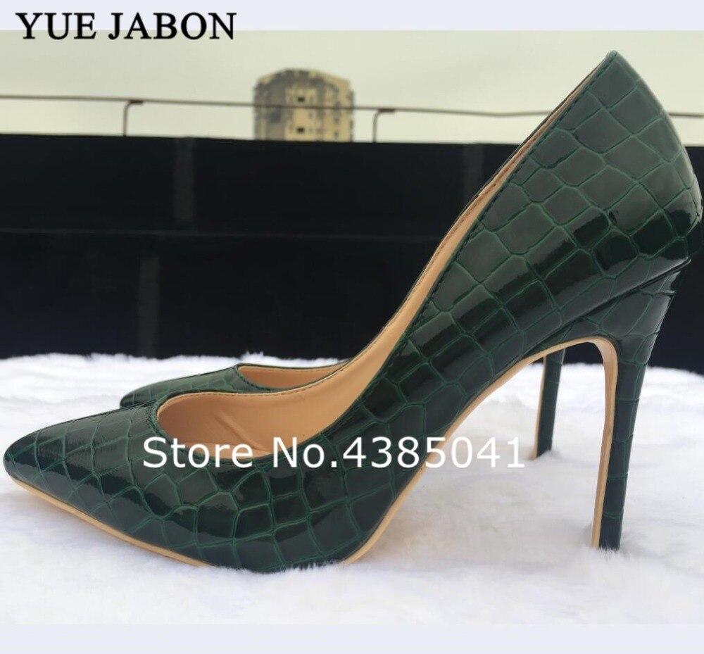 En Dame picture Qualité Design Pierre Chaude Foncé Ligne D'impression Chaussures Styles Mode 2019 Femmes Vert 1 Cuir Picture 3 Talons Pompes Haute picture De Motif 2 HCcBxw