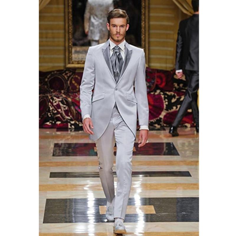 font b men b font prom font b suits b font light gray for wedding
