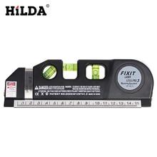 HILDA Laser Level Horizon Vertical Measure 8FT Aligner Standard Metric Rulers Level Laser Tool Multipurpose Measure