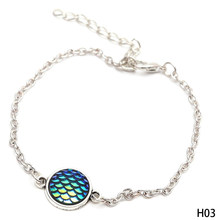 New Arrival Vintage Fish /Dragon Scale Pendant Bracelets With Silver Chain For Women Party Wedding Bridal Jewelry bijoux(China)