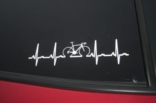 Car styling for road bike heartbeat die cut car window sticker