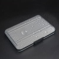 portable aluminum Portable Black Aluminum Memory Card Case 16 Slots (8+8) for Micro SD SD/ SDHC/ SDXC Card Storage Holder New Card Case (5)