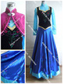 new Adult  Clothing women Party  Dress New Edition Deluxe Princess Elsa Anna Cosplay Embroidered Dress