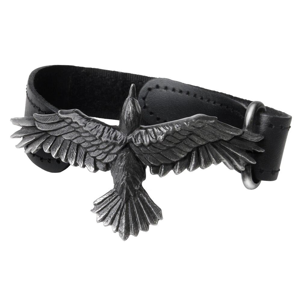 Hommes femmes Bracelet en cuir Bracelet Punk aigle Bracelet réglable cadeaux pour hommes accessoires Style Cowboy Bracelet bijoux