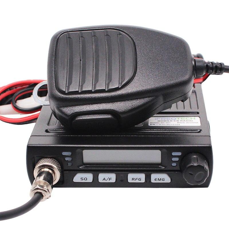 AC-001 Ultra Compact AM/FM Mini Mobie Albrecht AE-6110 Citizen Band Radio 8W CB Radio 26MHz 27MHz 10 Meter Amateur Mobile Radio