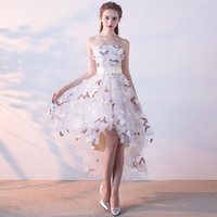 Evening Dress 2019 Fairy Short floral printing chiffon Party Gown Formal Dress Custom Homecoming Dresses Robe De Soiree