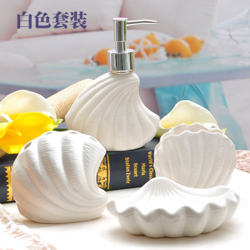 Cool Us 49 99 Mediterranean Style Sea Shells Decoration Bathroom Accessories Set Toothbrush Holder Ceramics Decoration In Bathroom Accessories Sets From Beutiful Home Inspiration Ommitmahrainfo