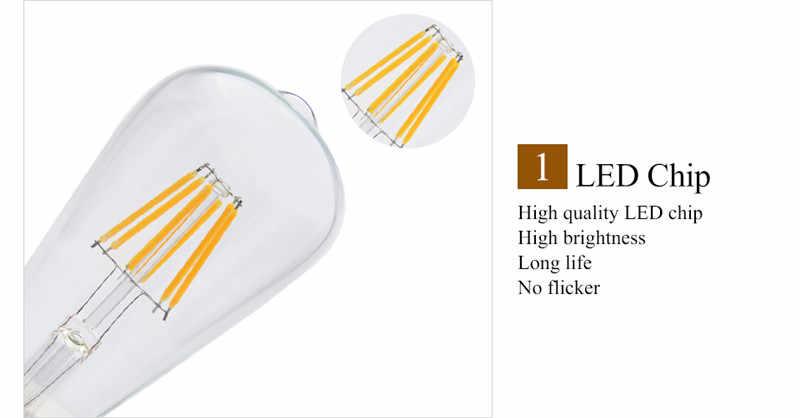 220V E27 E14 Vintage bougie lumière LED Edison Filament ampoule lumière rétro Vintage vis Globe lampe 2/4/6W COB décor à la maison éclairage