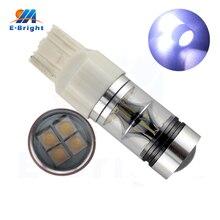 High Power  2pcs 7440 Socket 12V Lens 20 SMD 100W T20 Led Bulbs Turn Side Maker Tail Light Bright Leds Warranty Free Shipping