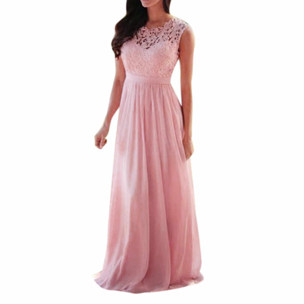 Home&Nest Women's plus size 12xl Lace curve Pink Long Dresses ...