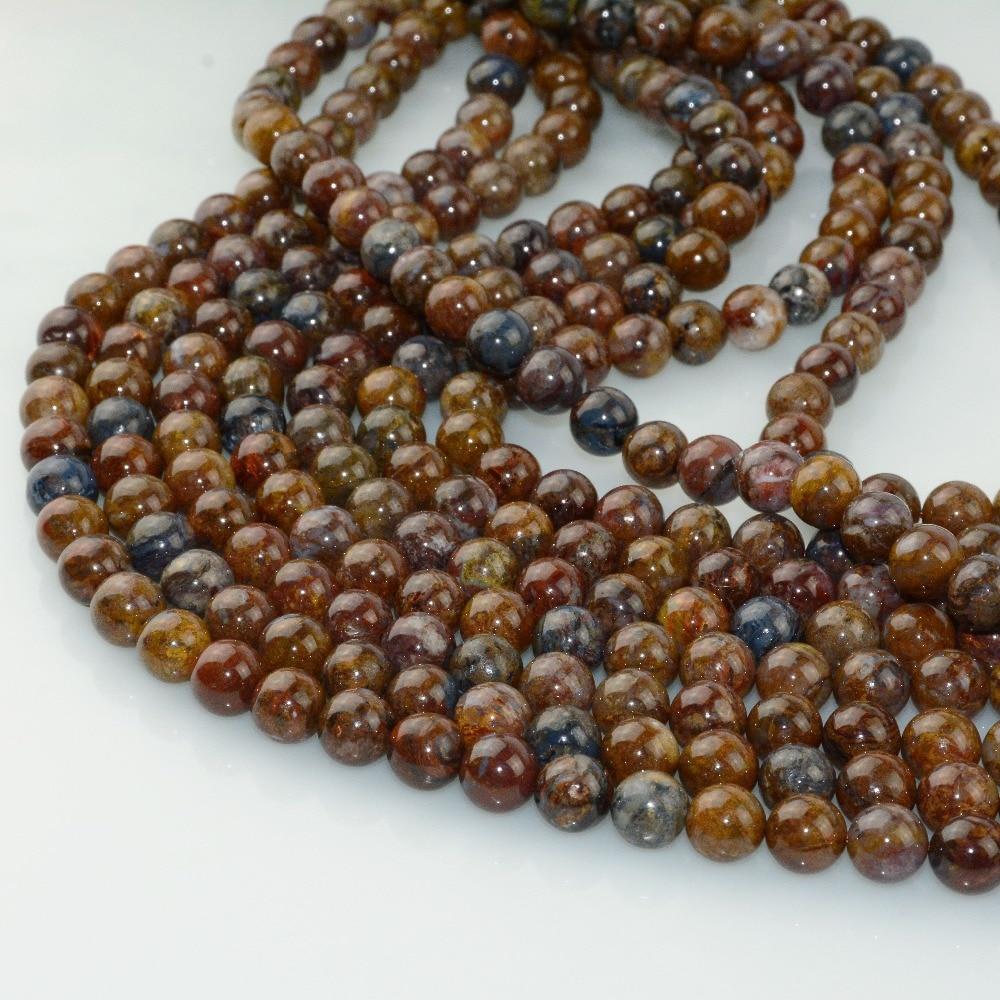 HTB1nOjJLhTpK1RjSZFKq6y2wXXah Natural Pietersite Stone Loose Round Beads 8mm / 10mm