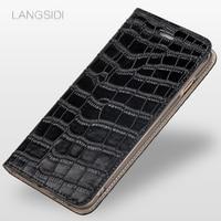 Luxury Phone Case Crocodile Leather Flip Leather Phone Case For Xiaomi Redmi 5A Phone Case All Handmade Customized