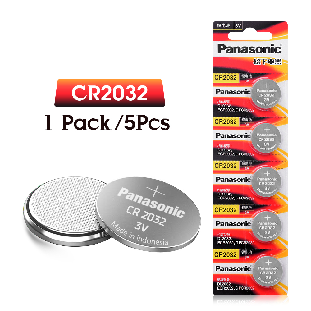 PANASONIC 5pcs Original Cr2032 DL2032 ECR2032 5004LC KCR2032 BR2032 3v Button Battery For Watch Computer Remote Control Toys