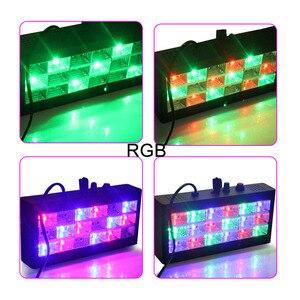 Image 4 - קול מוסיקה בקרת 18 W RGB Led המפלגה DJ שלב אפקט תאורה ההבזק מופע לייזר מקרן דיסקו אור 220 V AC 110 V מועדון בר