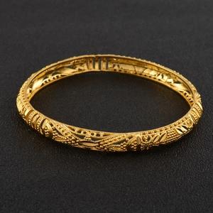 Image 5 - Anniyo 4 Pcs/Lot Ethiopian Bangle for Women Dubai Bride Wedding Luxury Bracelet African Party Jewelry Middle East Gift #088306