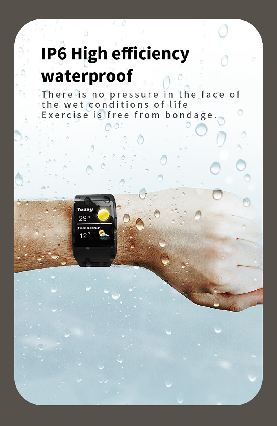 ALANGDUO Z01 Smart Watch Color Screen Smart Wristwatch Big Dials Heart Rate Monitor Micro sensor Waterproof Smart Watch Bracelet (12)