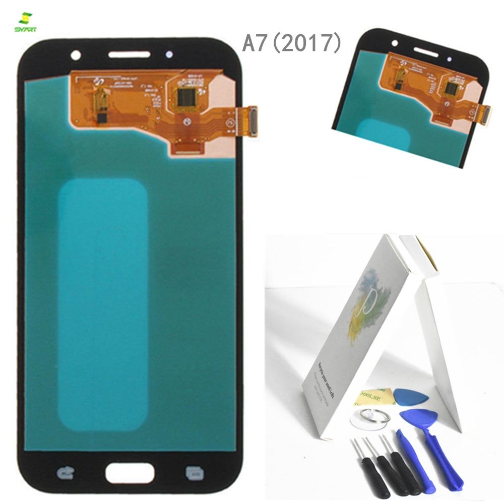 A7 2017 A720 Für Samsung Galaxy A7 2017 A720 A720F A720M A720Y LCD Screen Display Mit Touch Screen Digitizer Montage schwarz