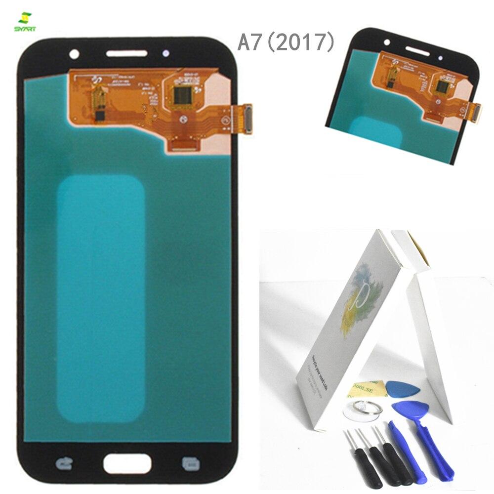 A7 2017 A720 para Samsung Galaxy A7 2017 A720 A720F A720M A720Y pantalla LCD con pantalla táctil digitalizador montaje negro
