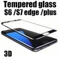 9 h dureza 3d curva completa protectores de pantalla a prueba de explosiones de cristal templado de cine para samsung galaxy s6 edge plus s7 edge s7edge