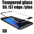 9H Hardness 3D Curved Full Screen Protectors Explosion-proof Tempered Glass Film for Samsung Galaxy S6 edge plus s7 edge s7edge
