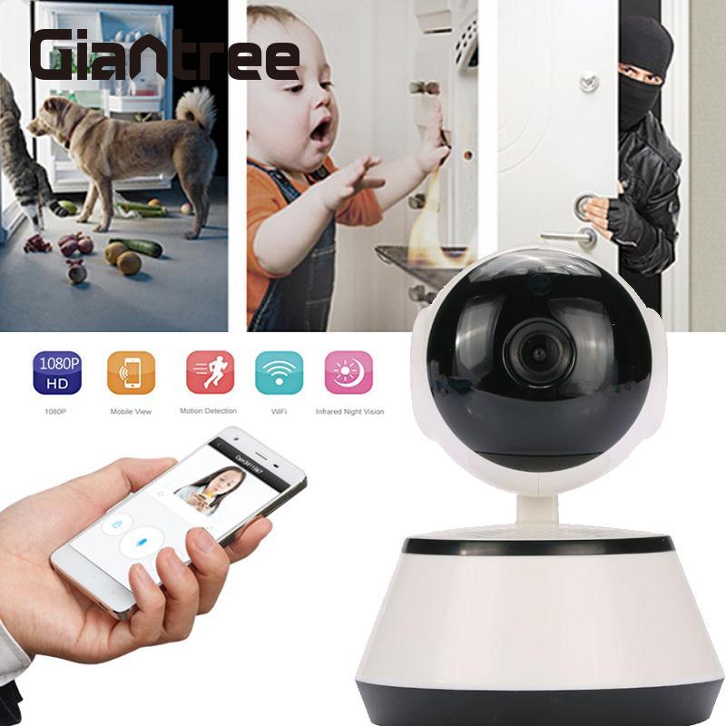 giantree 360 degree 1080P HD WIFI IP Camera V380 Phone Remote Network surveillance cameras Baby monitor remote control