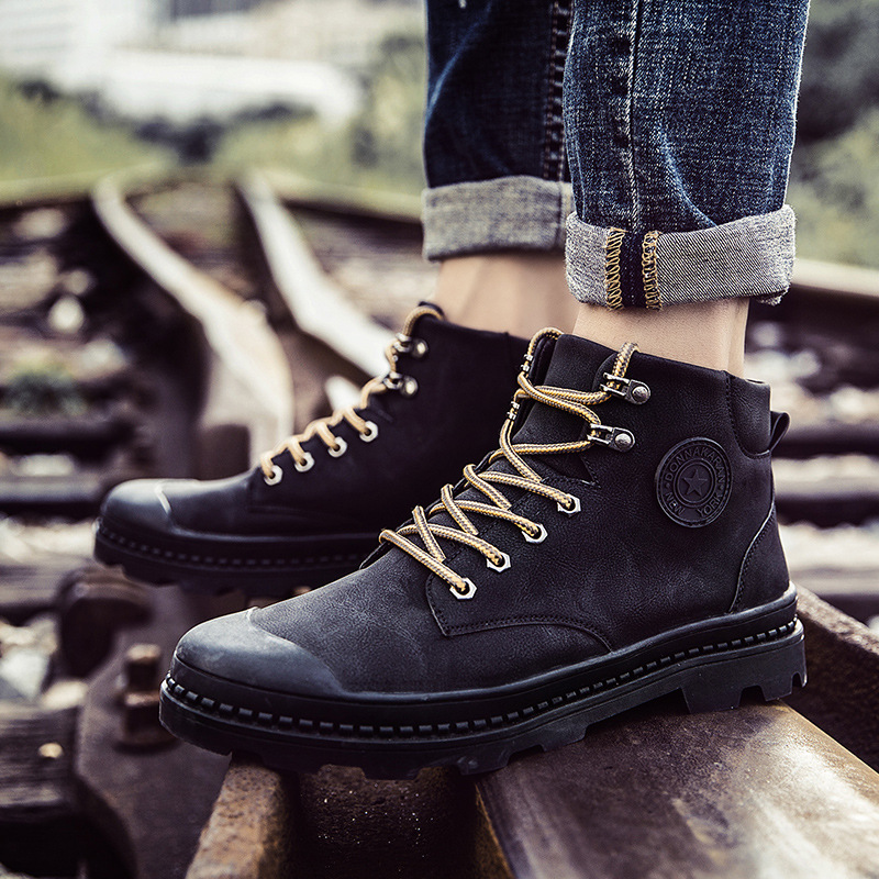 New Genuine Leather Men Boots Spring And Autumn Man Shoes Ankle Boot Men's Martin Work Boots Plus Size 39-44 kitchen appliances household baking mini oven 12l stainless steel housing glass electric oven cake toaster