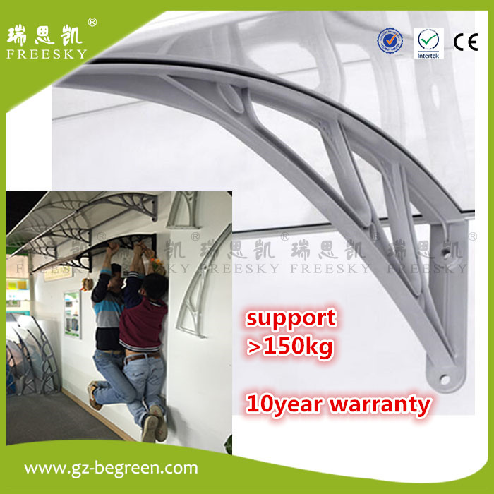 YP150240 150x240cm freesky diy door canopy window awning polycarbonate awning black bracket clear roof cover sheet patio cover-in Gazebos from Home u0026 Garden ...  sc 1 st  AliExpress.com & YP150240 150x240cm freesky diy door canopy window awning ...