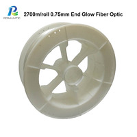 0.75mm 2700m/Roll Led Optic Fiber Lights PMMA RGBY Side Grow Optic Lighting Fibra Ottica Llluminazione For Ceiling Decoration