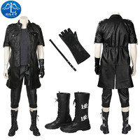 Anime Noctis Lucis Caelum Cosplay Costume Game Final Fantasy XV Jacket Adult Men Black Outfit Halloween Costume Customize