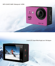 "Super Action Camera Full hd 1080p Wifi Sport Camera 30M Waterproof Camera With 2.0"" HD Screen 140D Wide Angle Lens Best DV"