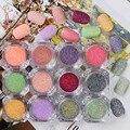 1 Caja Caliente Nuevos de Uñas Arena Azúcar Mezclado Polvo de Uñas de Manicura Brillo Del arte del Polvo del Polvo Consejo Decoración de Uñas de Arte de Uñas Herramientas 12 colores