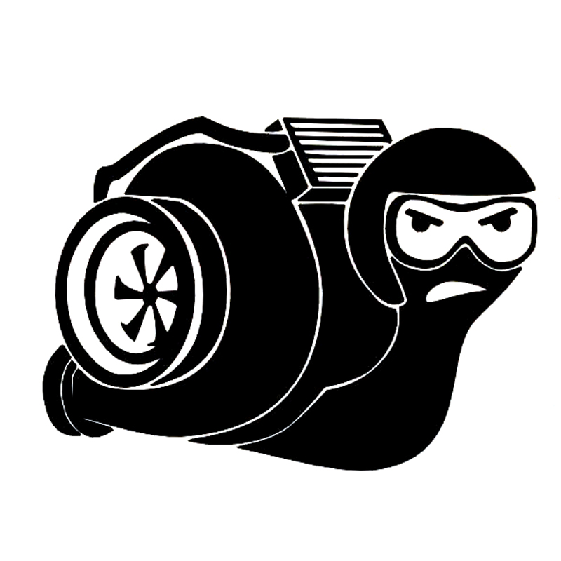 14cm10cm turbo snail intercooler fashion vinyl motorcycle