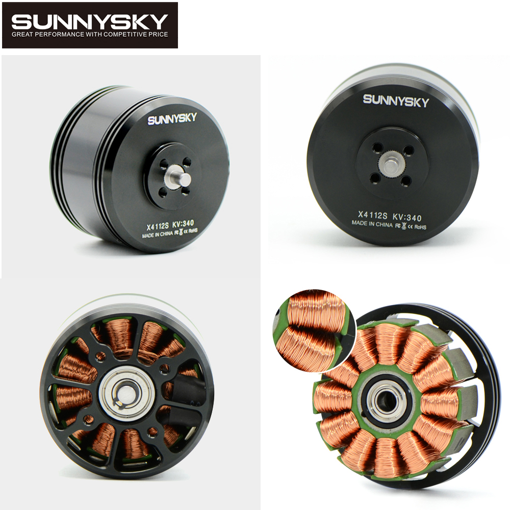 4pcs/lot Sunnysky newest X4112S 340KV 450KV Outrunner Brushless Motor for Multi-rotor Aircraft multi-axis motor disc motor 2017 dxf sunnysky x2206 1500kv 1900kv outrunner brushless motor 2206 for rc quadcopter multicopter