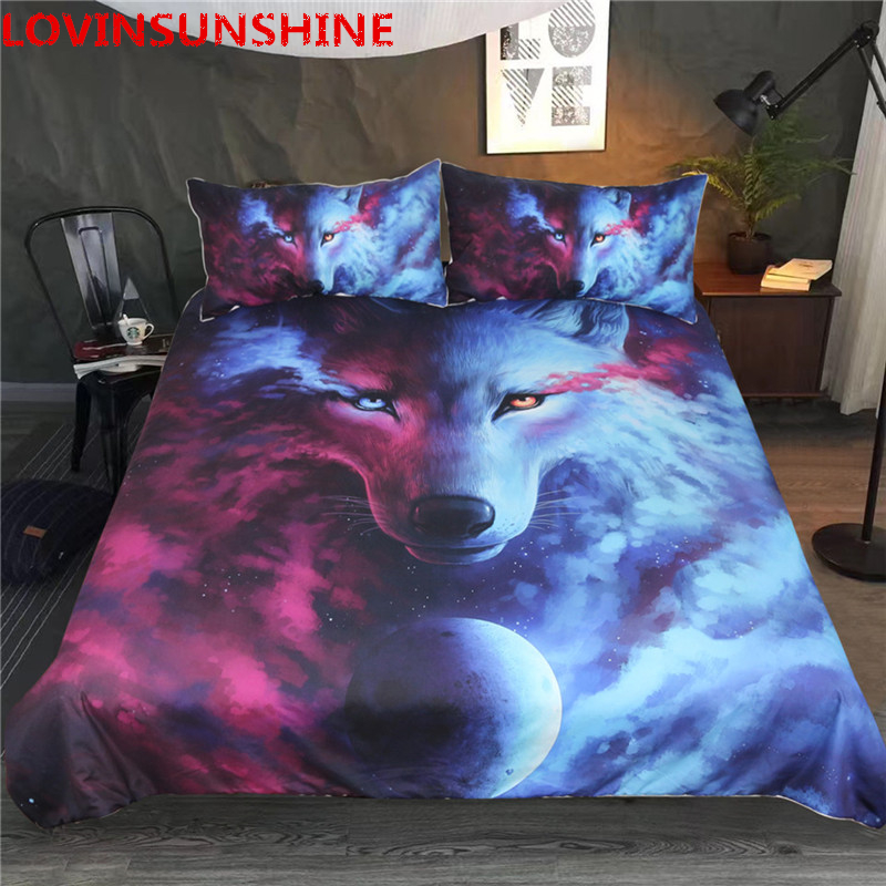 LOVINSUNSHINE 3d Duvet Cover Set Wolf Beding Set Queen Size Comforter Bedding Sets Double DF02#LOVINSUNSHINE 3d Duvet Cover Set Wolf Beding Set Queen Size Comforter Bedding Sets Double DF02#