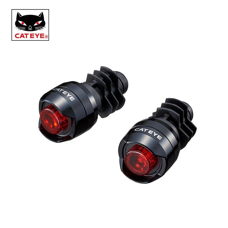 все цены на CATEYE 2PC Bicycle Barend Light Cycling Bar Plug Safety Lights Rode Bike Handlebar Bar End Warning Flash Lights Lamp Accessories