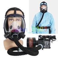 Fluxo Constante de Ar Fornecido elétrico Alimentado Respirador Máscara de Gás Rosto Cheio Novo Sistema