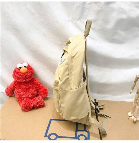 HTB1nOl4XQT2gK0jSZFkq6AIQFXaE Nylon Backpack Women Backpack Solid Color Travel Bag Large Shoulder Bag For Teenage Girl Student School Bag Bagpack Rucksack