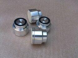 4PCS Amplifier AluminumFeet  D48*H40 Sound Lsolation Spikes Maglev Feet HIFI Audio Stand Mat