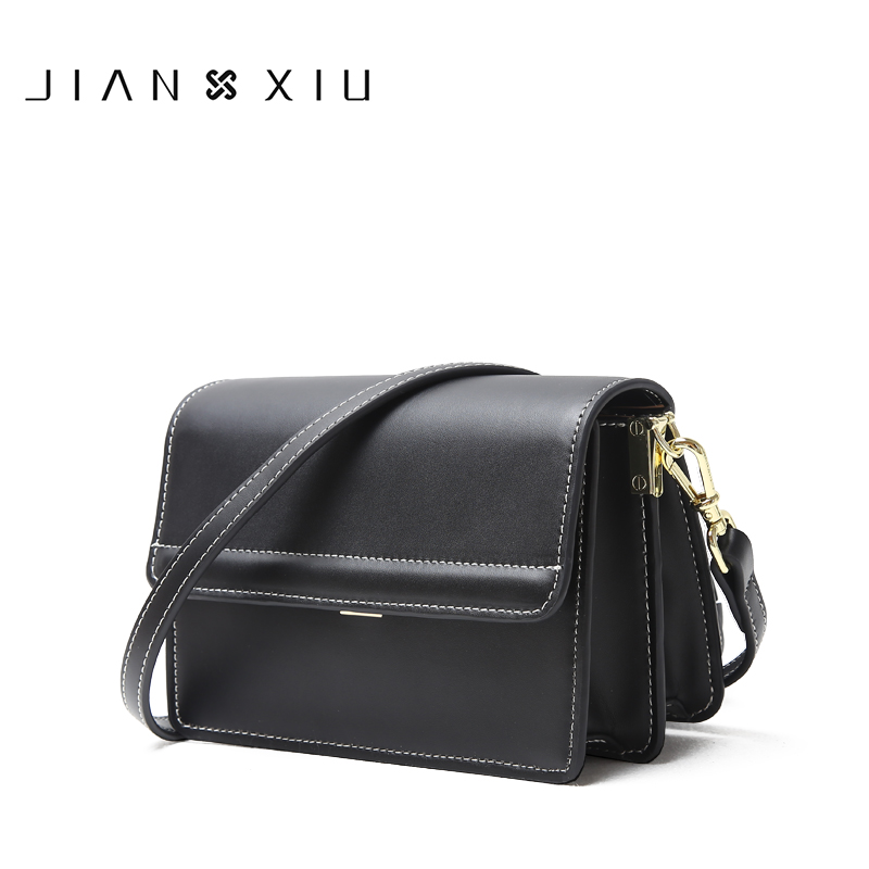 JIANXIU Brand Women Split Leather Shoulder Bag Famous Brands Handbag Fashion Female Messenger Corrosbody Bags Small