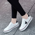 2017 Fashion Appliques Canvas Shoes Women Footwear Increase Girl Female Comfort Slipon Women Lace-up Flat Shoes