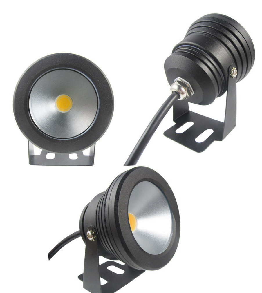 1pcs Outdoor black color Case 10W Underwater LED Flood Wash Pool Waterproof Light Spot Lamp 12V