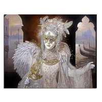 Mask angel 40x50cm New 100% Full Area Highlight Diamond Needlework Diy Diamond Painting Kit 3D Diamond Cross Stitch Embroidery