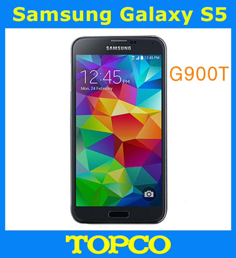 "bilder für Samsung galaxy s5 t-mobil unlocked gsm 3g & 4g android handy sm-g900t quad-core 5,1 ""16mp wifi gps 16 gb dropshipping"