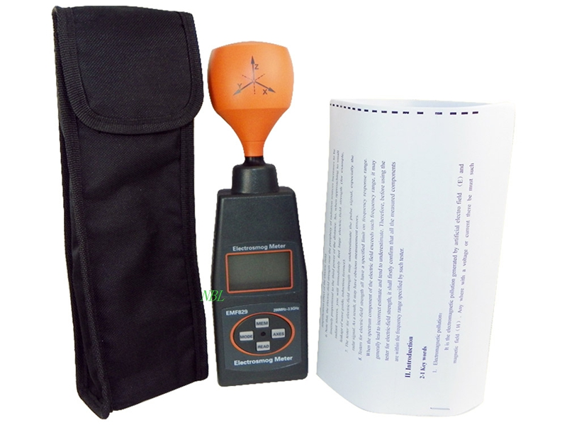 Professional Magnetic Electrosmog Meter High Frequency Radiation Field Intensity Meter Indicator EMF Tester 50MHz-3.5GHz цена