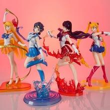 5 Style Anime Sailor Moon Figures Tsukino Usagi Sailor Mars Mercury Jupiter Venus Saturn PVC Figure Toys