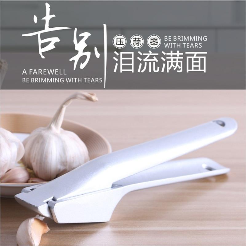 Edelstahl Brecher Knoblauchpressen Bequem Split Aluminiumlegierung Ingwer Knoblauch Chopper Küche Obst Gemüse Werkzeuge